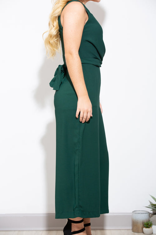 One Wish Hunter Green Jumpsuit