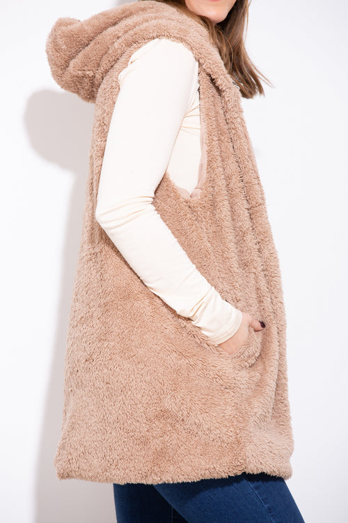 I Want To Know Faux Fur Vest - impromptu boutique