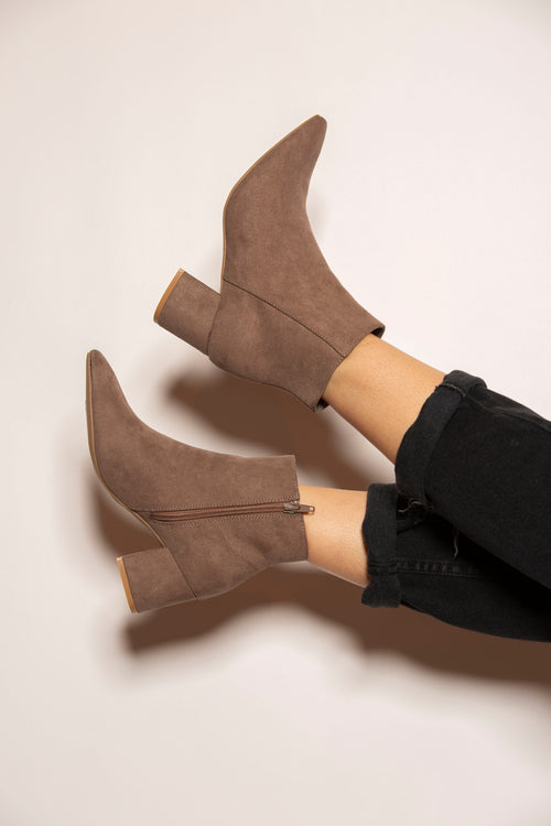 Molly Tan Suede Bootie - impromptu boutique