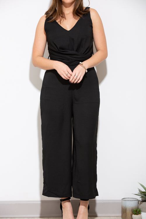 One Wish Black Jumpsuit