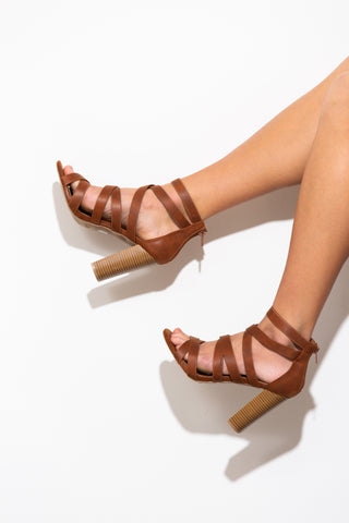 Kara Burnt Orange Block Heels