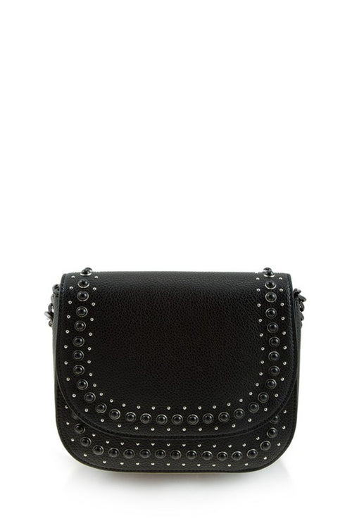 Melrose Studded Black Purse - impromptu boutique