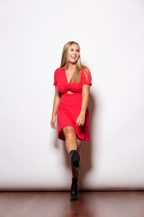 Can't Compare Black Fit & Flare Red Dress - impromptu boutique