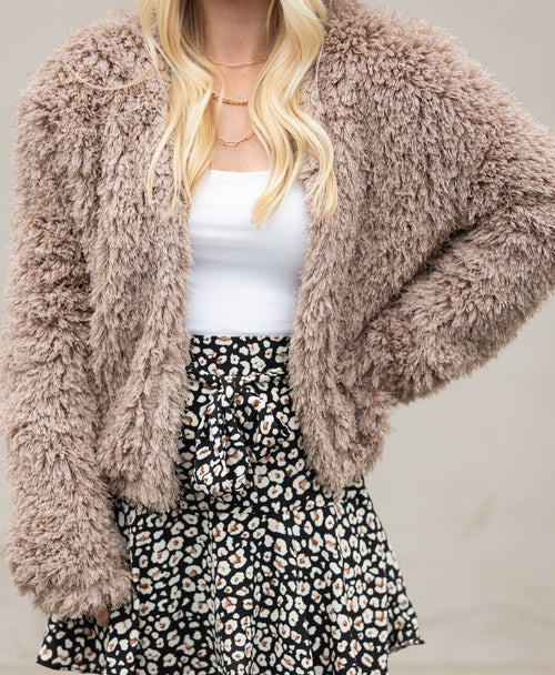Made For You Fuzzy Mocha Coat