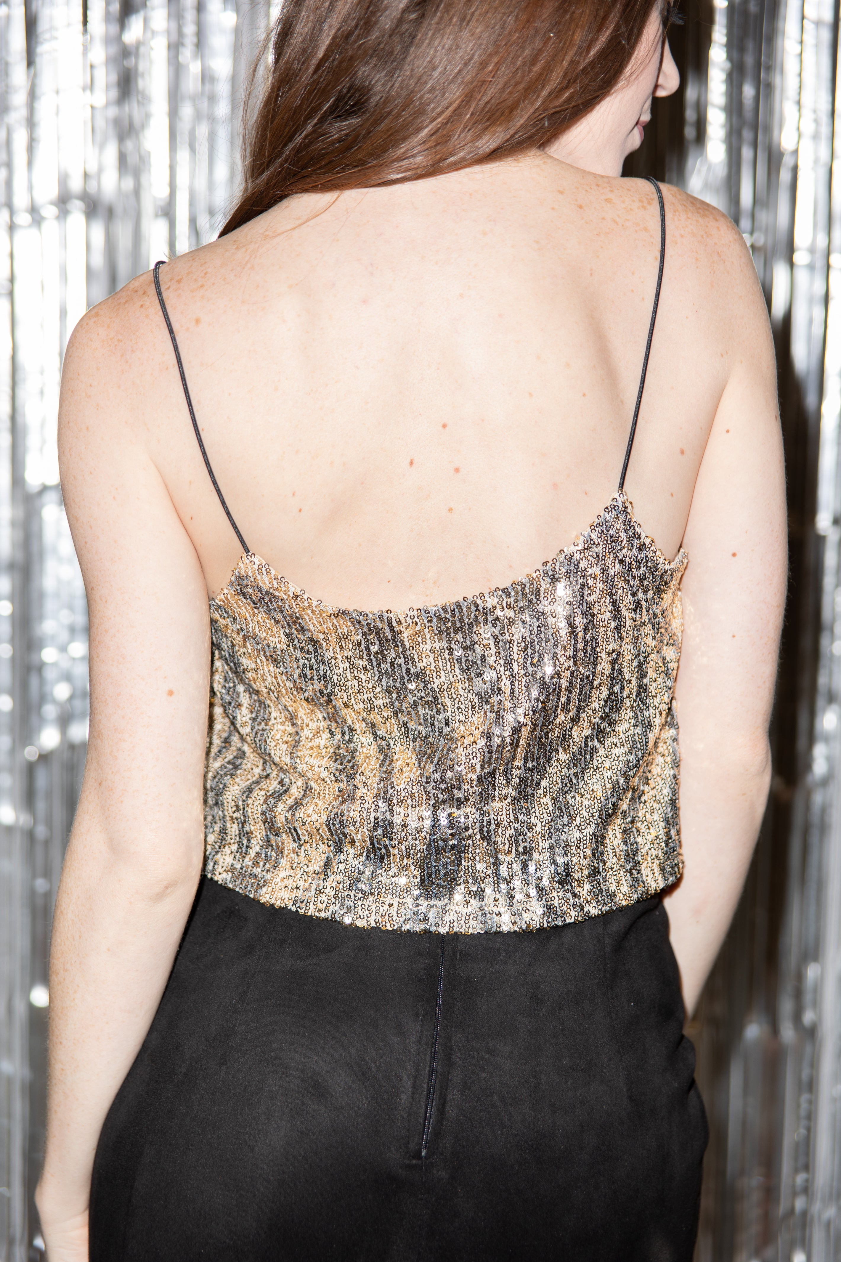 Light Up The Night Tiger Sequin Crop Tank