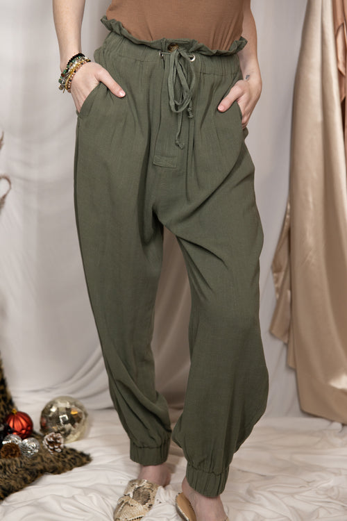 Why Wait Olive Joggers