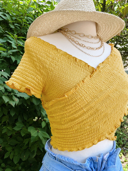 Wish You Well Smock Top: Yellow