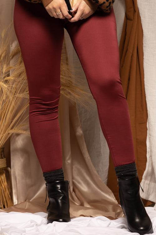 Chill Out Burgundy Leggings