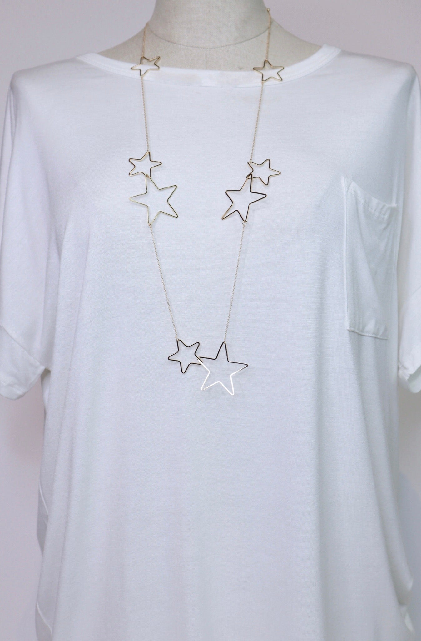 Gold Star Long Necklace *SNL322*