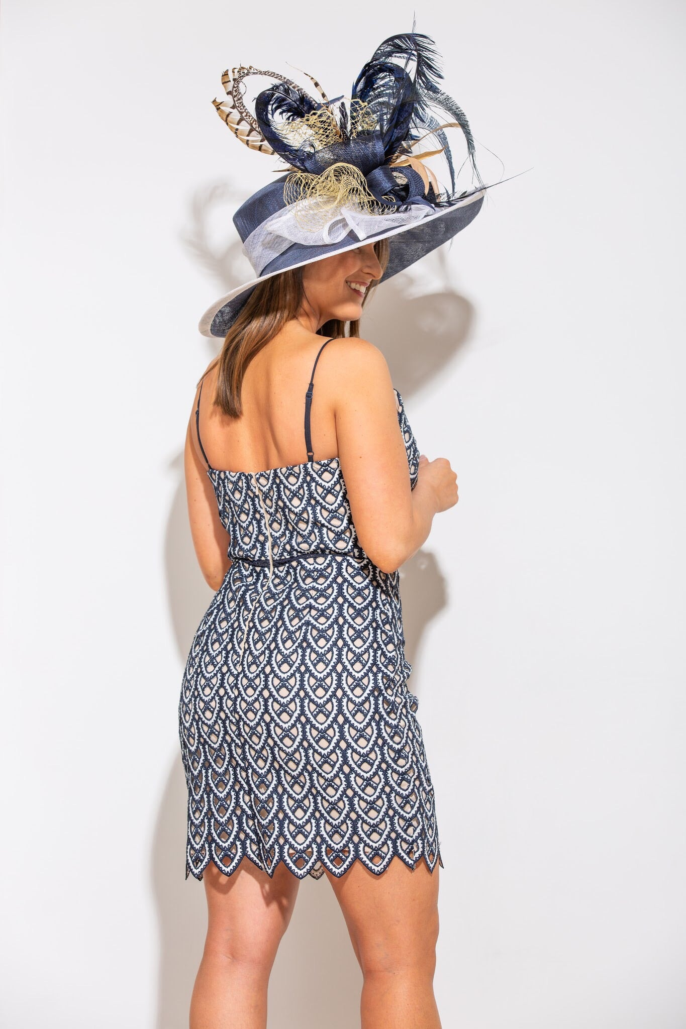 At The Stakes Navy Dress - impromptu boutique