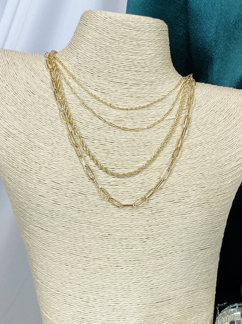 Laura Layered Gold Chain Necklace