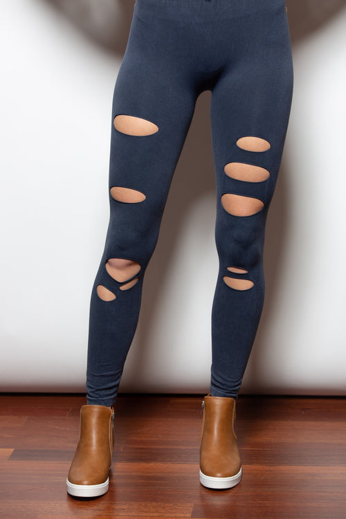From Now On Charcoal Distressed Leggings - impromptu boutique