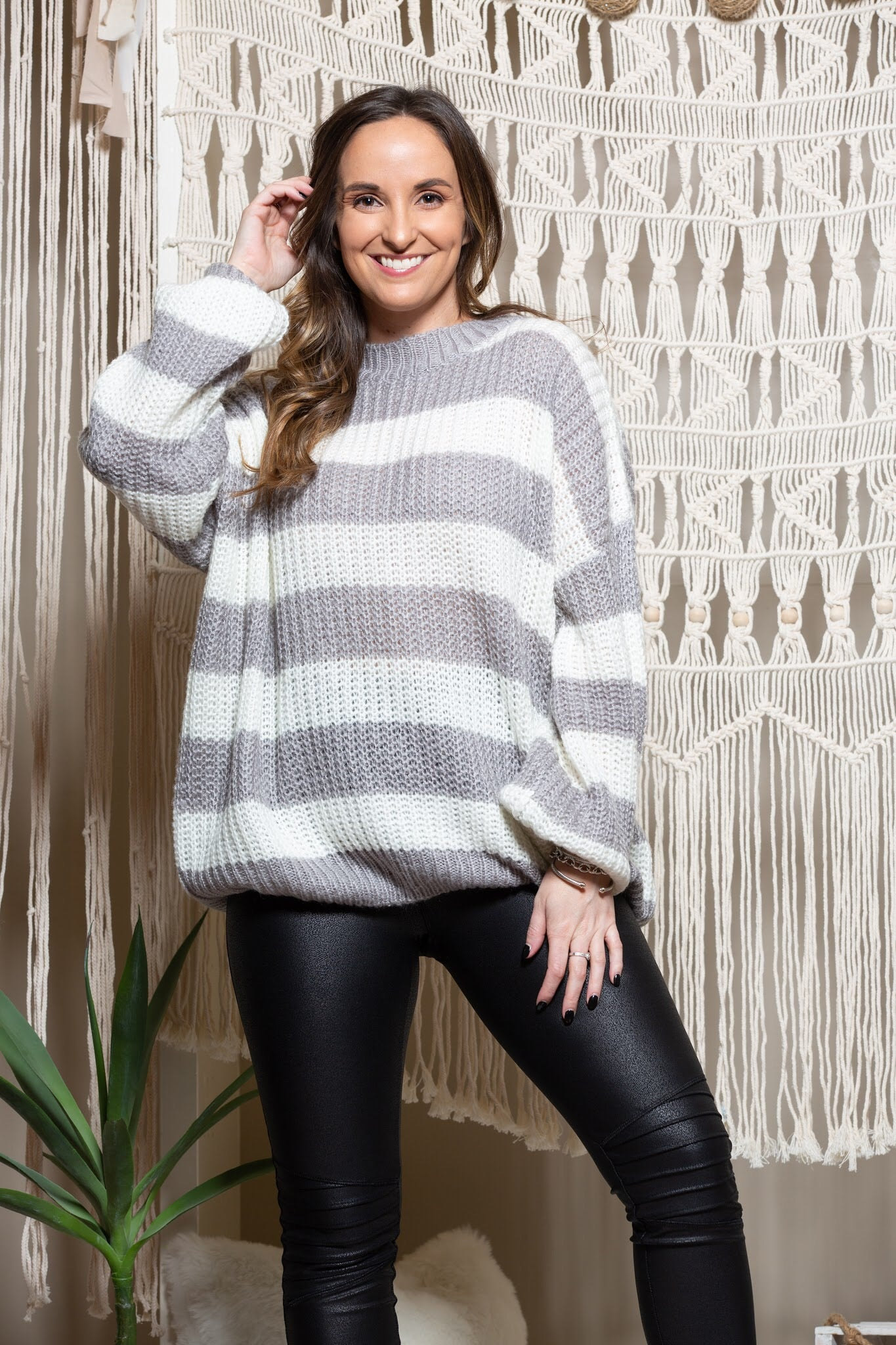 Love We Share Stripe Sweater - impromptu boutique