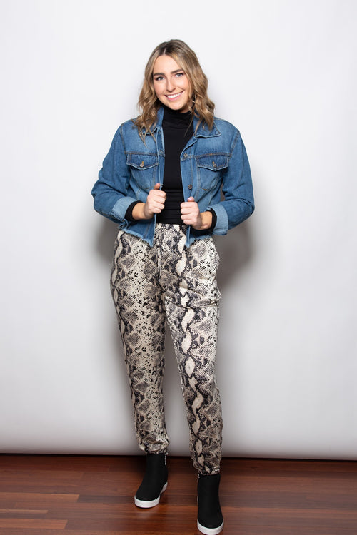 Keep Me Going Snake Skin Joggers - impromptu boutique