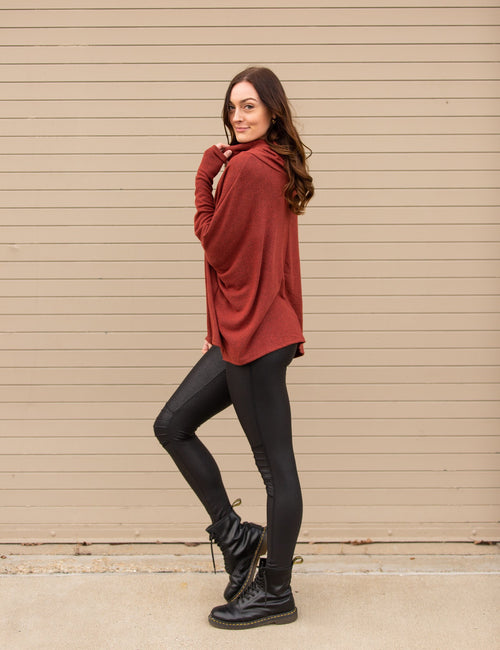 Meet Me Halfway Cowl Neck Top - impromptu boutique