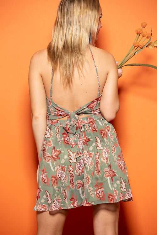 High Hopes Olive Halter Dress - impromptu boutique