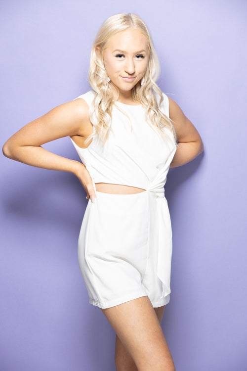 Look This Way White Romper - impromptu boutique