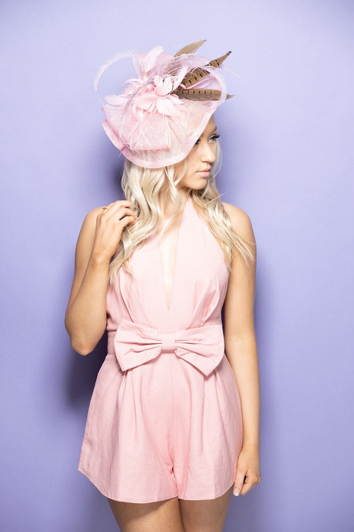The Lily Pink Bow Romper - impromptu boutique