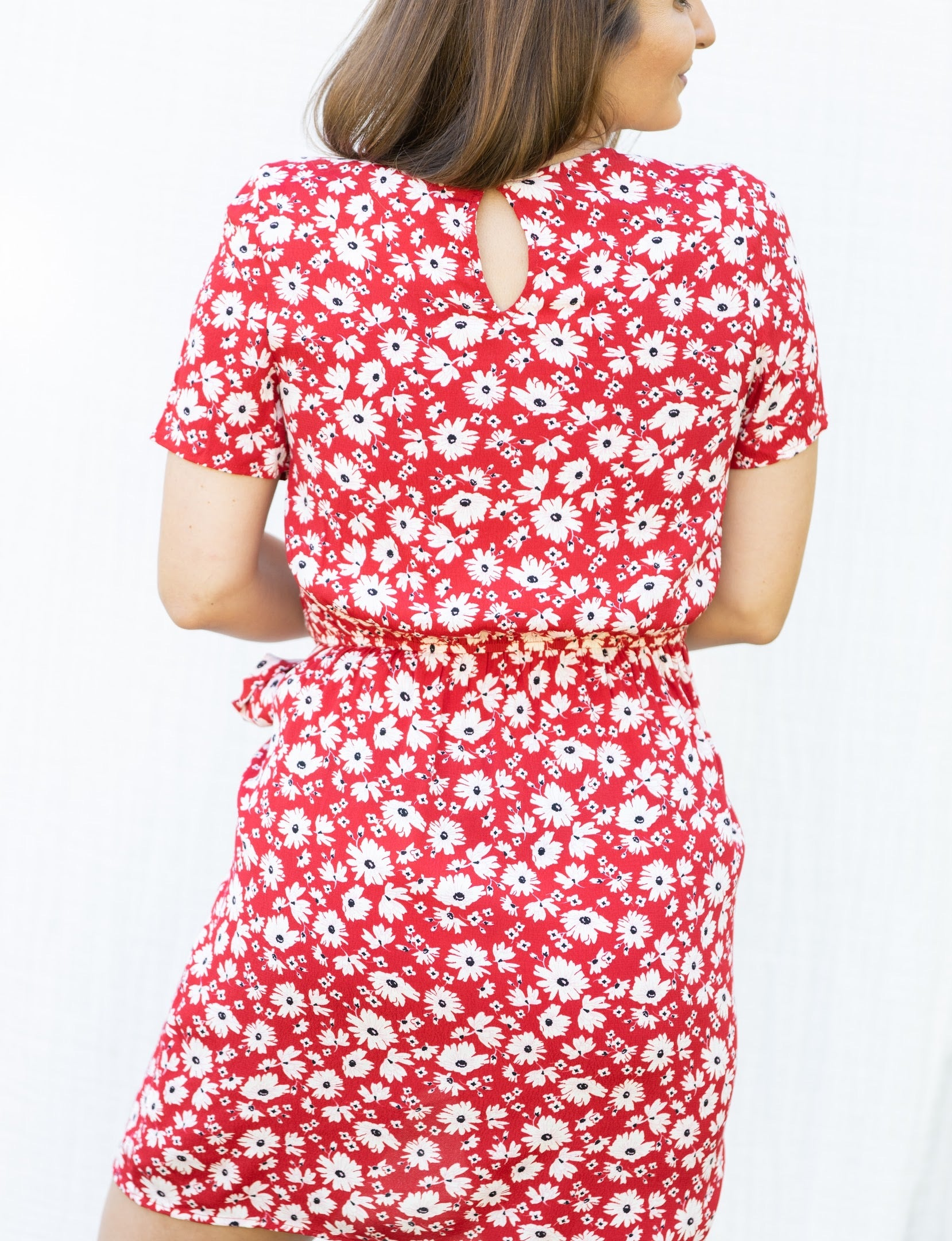 Take Your Time Red Floral Dress