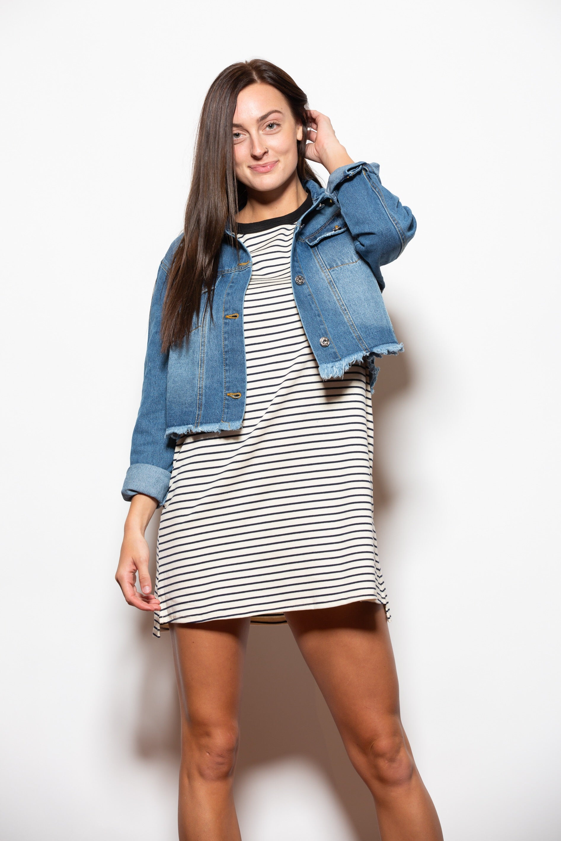 Thinking Of You Stripe T-Shirt Dress - impromptu boutique