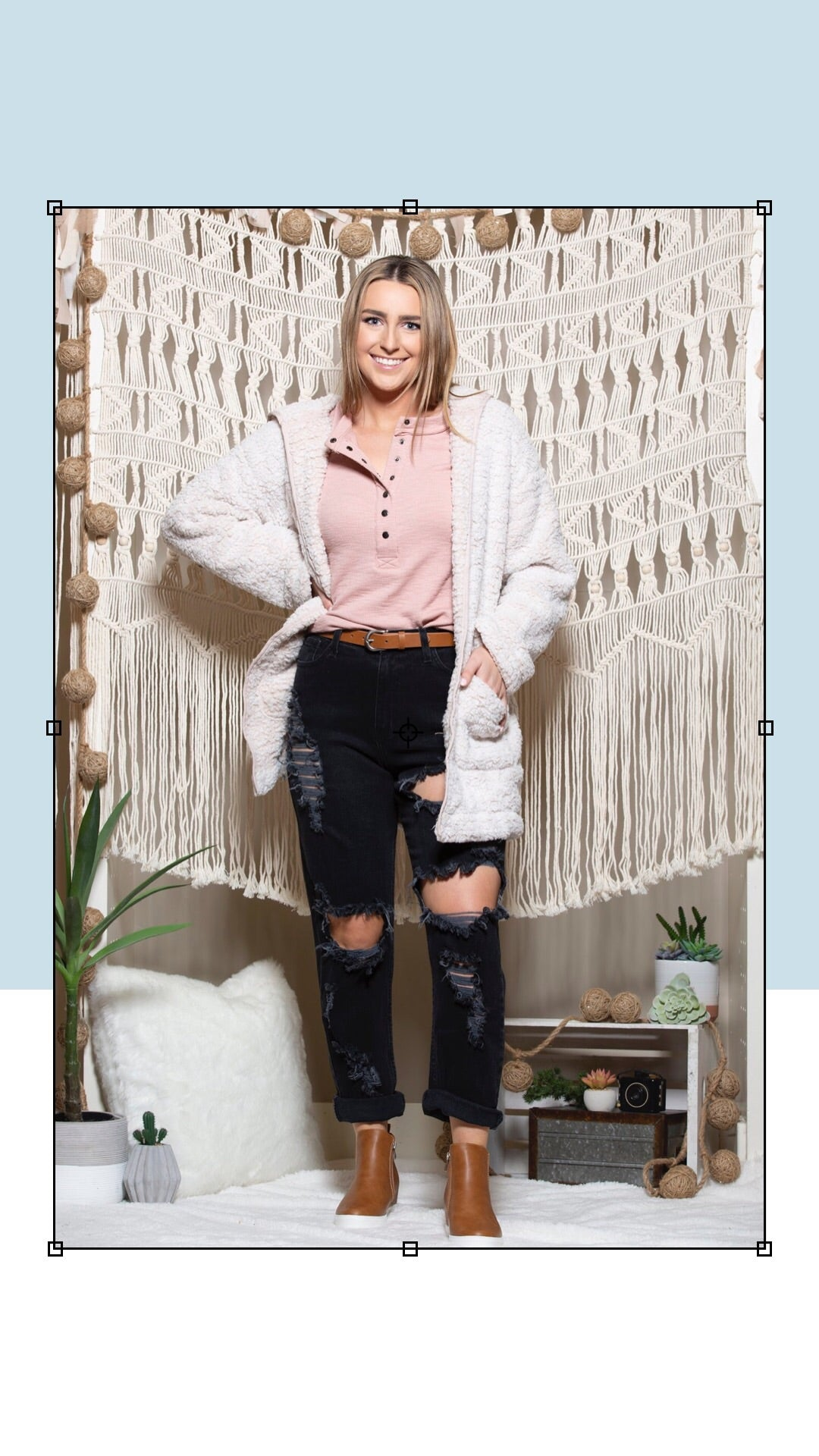 Go Your Own Way Oatmeal Teddy Jacket - impromptu boutique