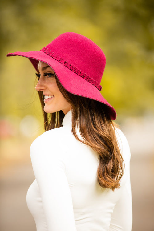 Lace Belt Floppy Hat - impromptu boutique