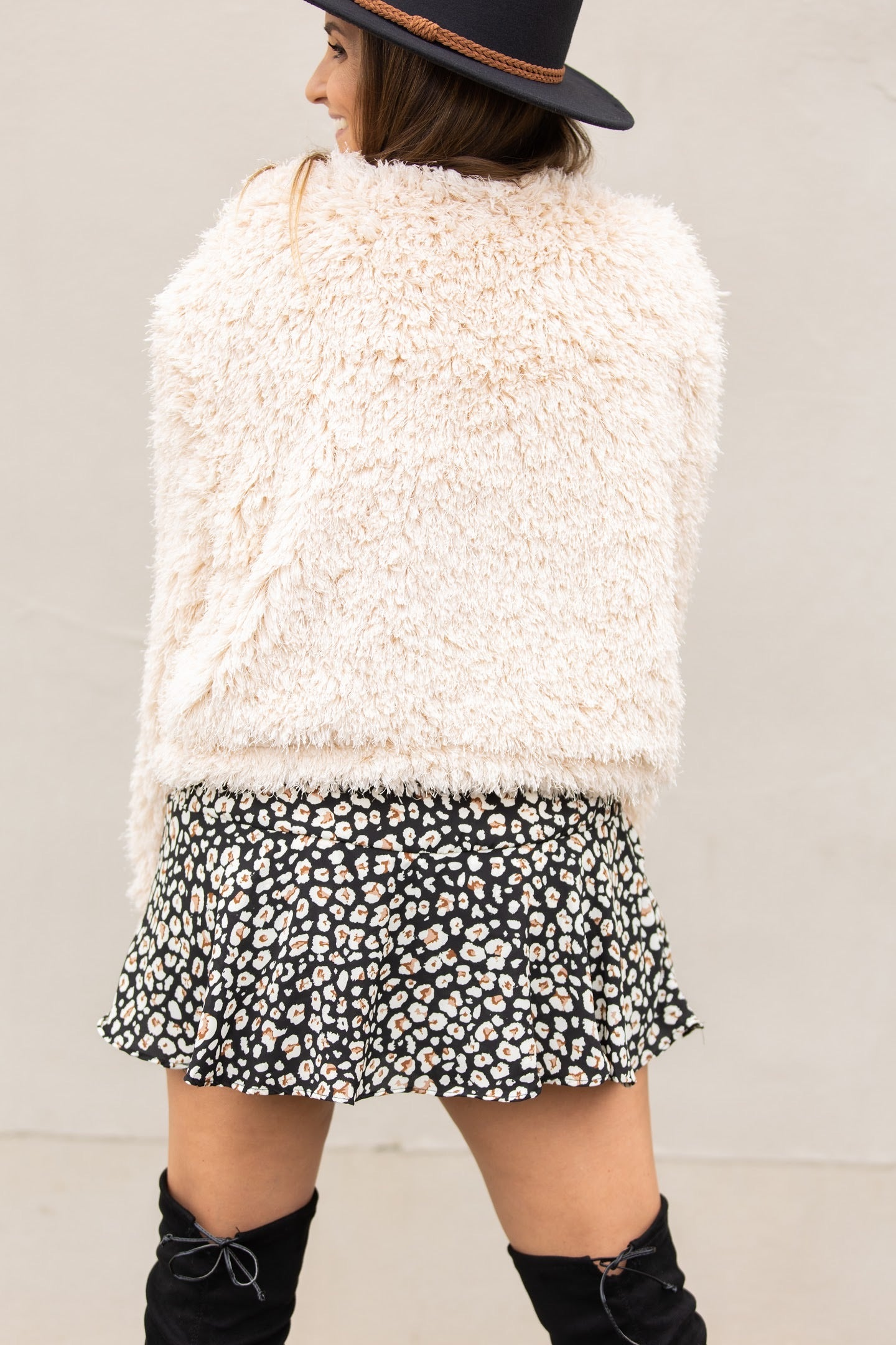 Made For You Fuzzy Cream Coat