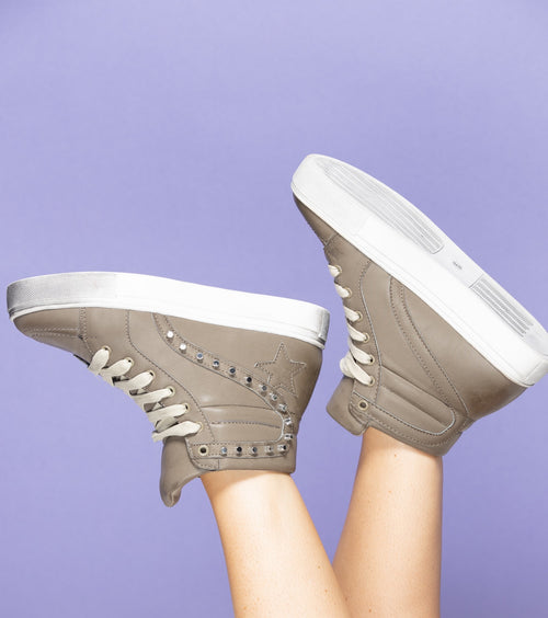 Jolie Grey High Top Sneakers - impromptu boutique