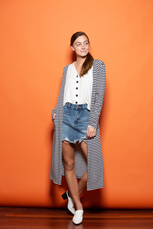 Love Me Long Time Striped Cardigan - impromptu boutique