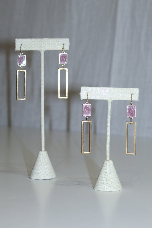 Be A Gem Earrings: Pink - impromptu boutique