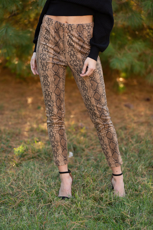 Time Of Your Life Snake Skin Pants