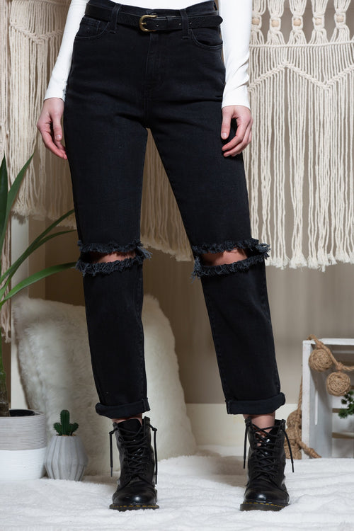 No Worries High Waist Black Denim - impromptu boutique