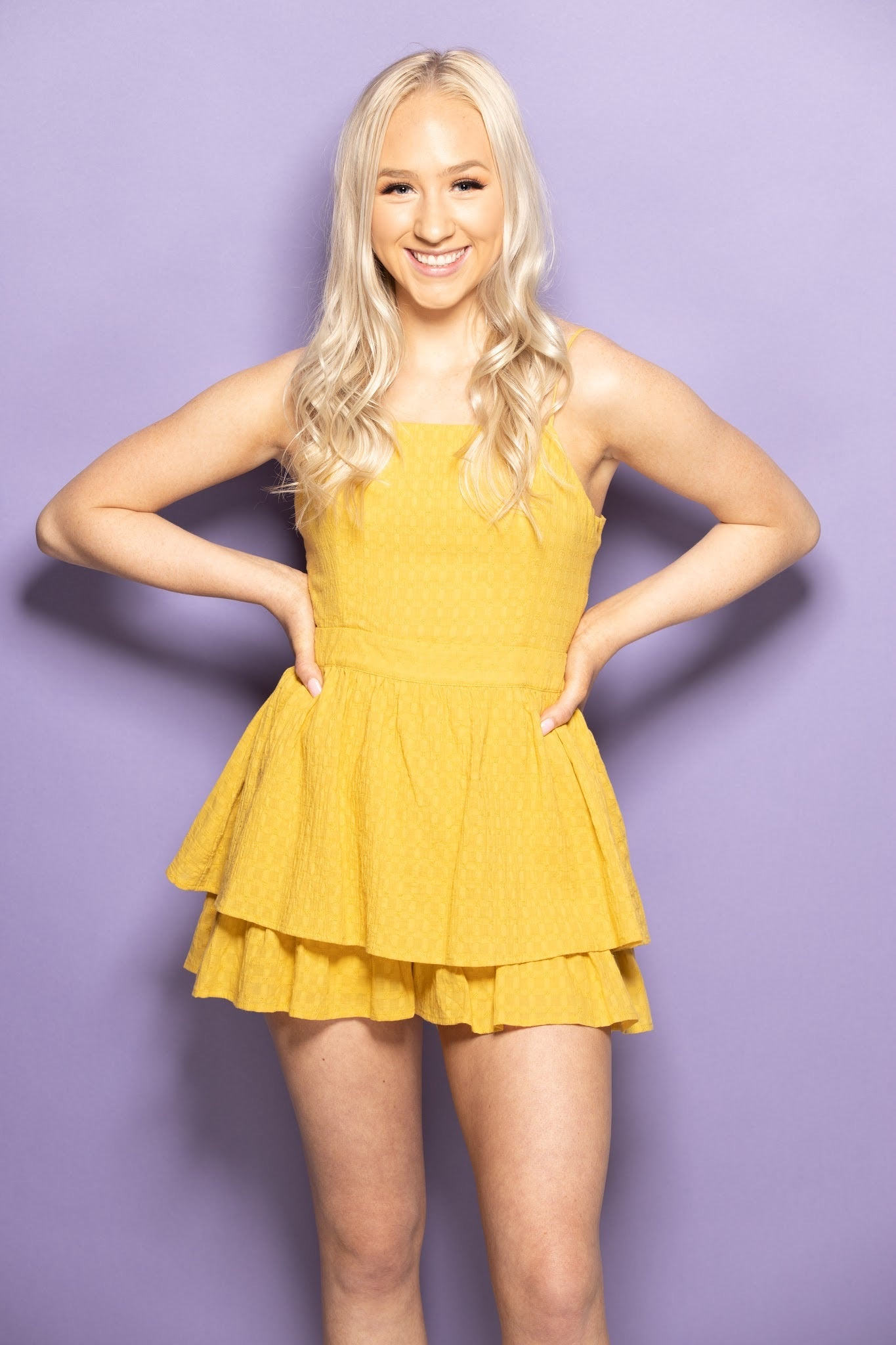 Take My Chances Ruffle Romper: Yellow - impromptu boutique