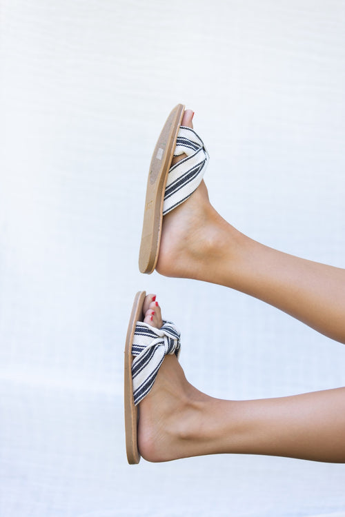 Nicole Stripe Sandals