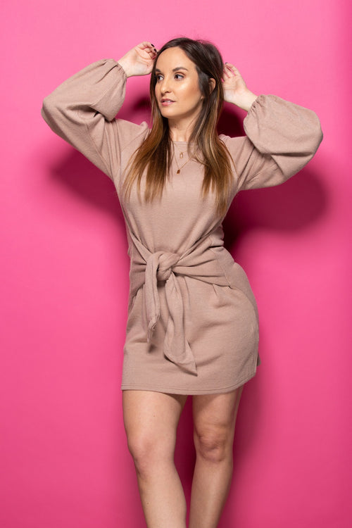 Best Of Me Mocha Mini Dress - impromptu boutique