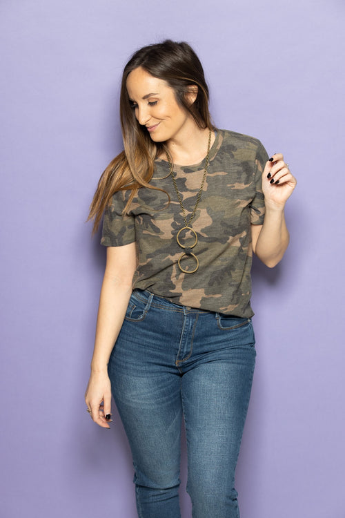 Out And About Camo Tee - impromptu boutique
