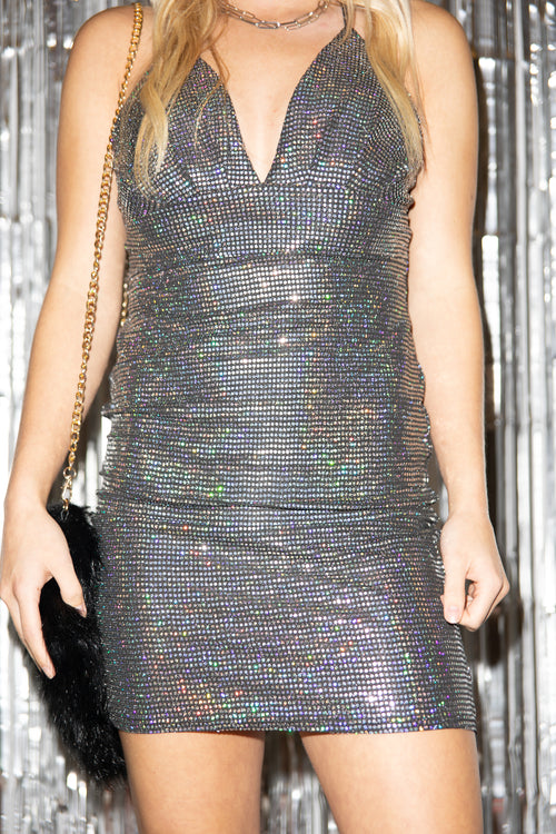 Expect The Best Silver Sequin Dress