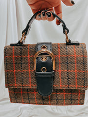 Headed Your Way Crossbody Plaid Bag
