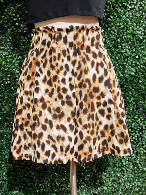 Stir Things Up Leopard Shorts