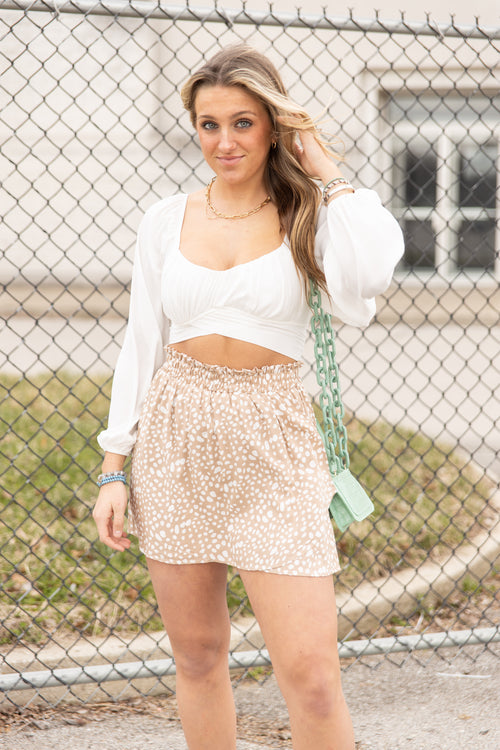 True To You Taupe Skort