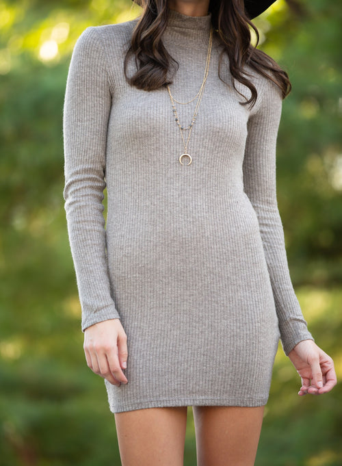 Better For You Mocha Sweater Dress