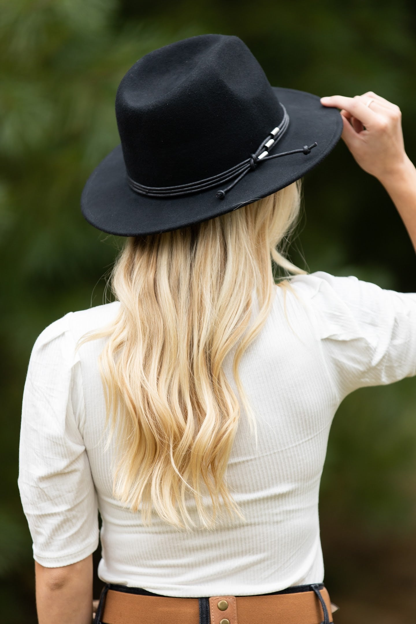 Something About You Black Felt Hat