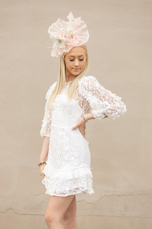 In Your Favor White Lace Dress - impromptu boutique