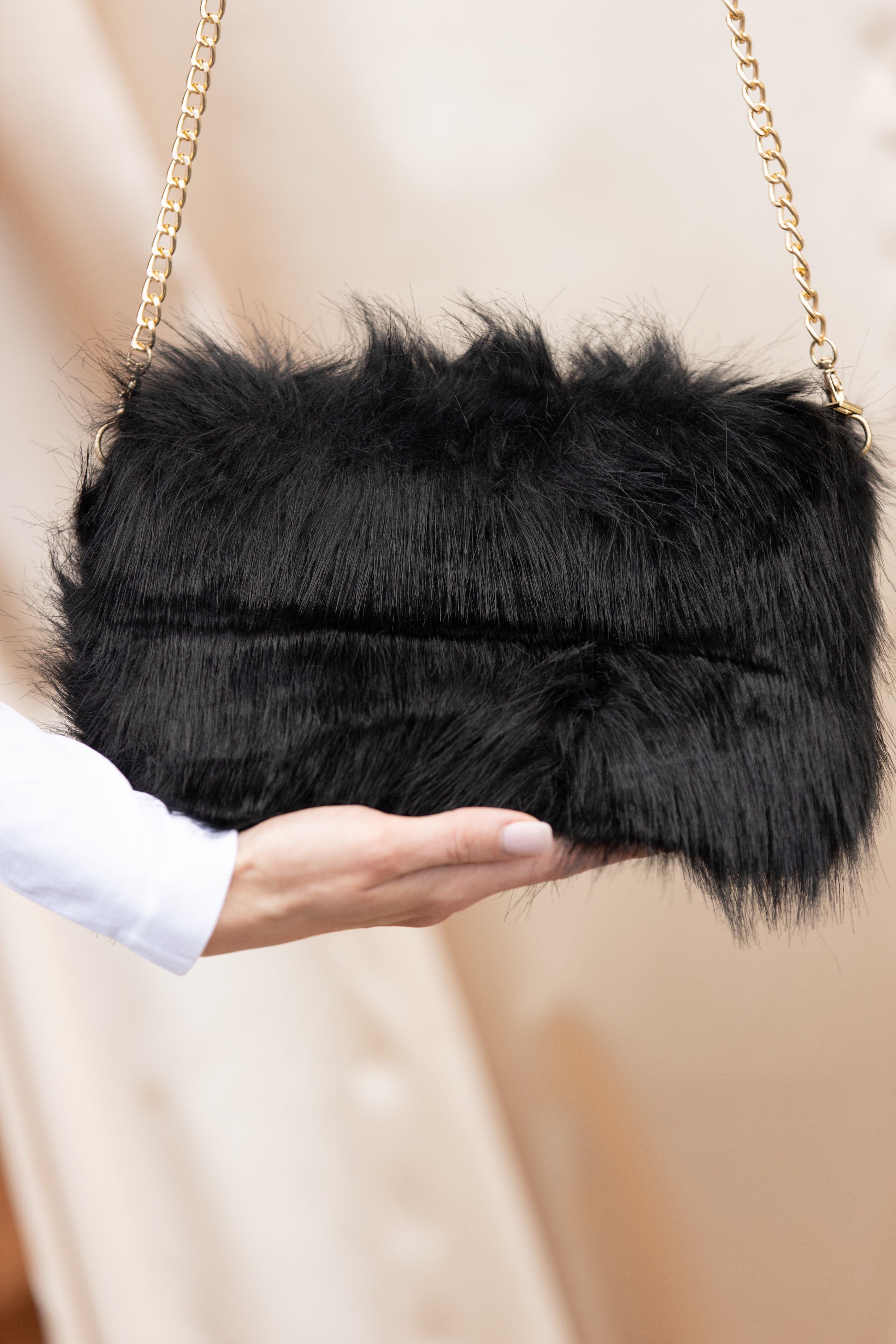 The Real Stunner Faux Fur Clutch