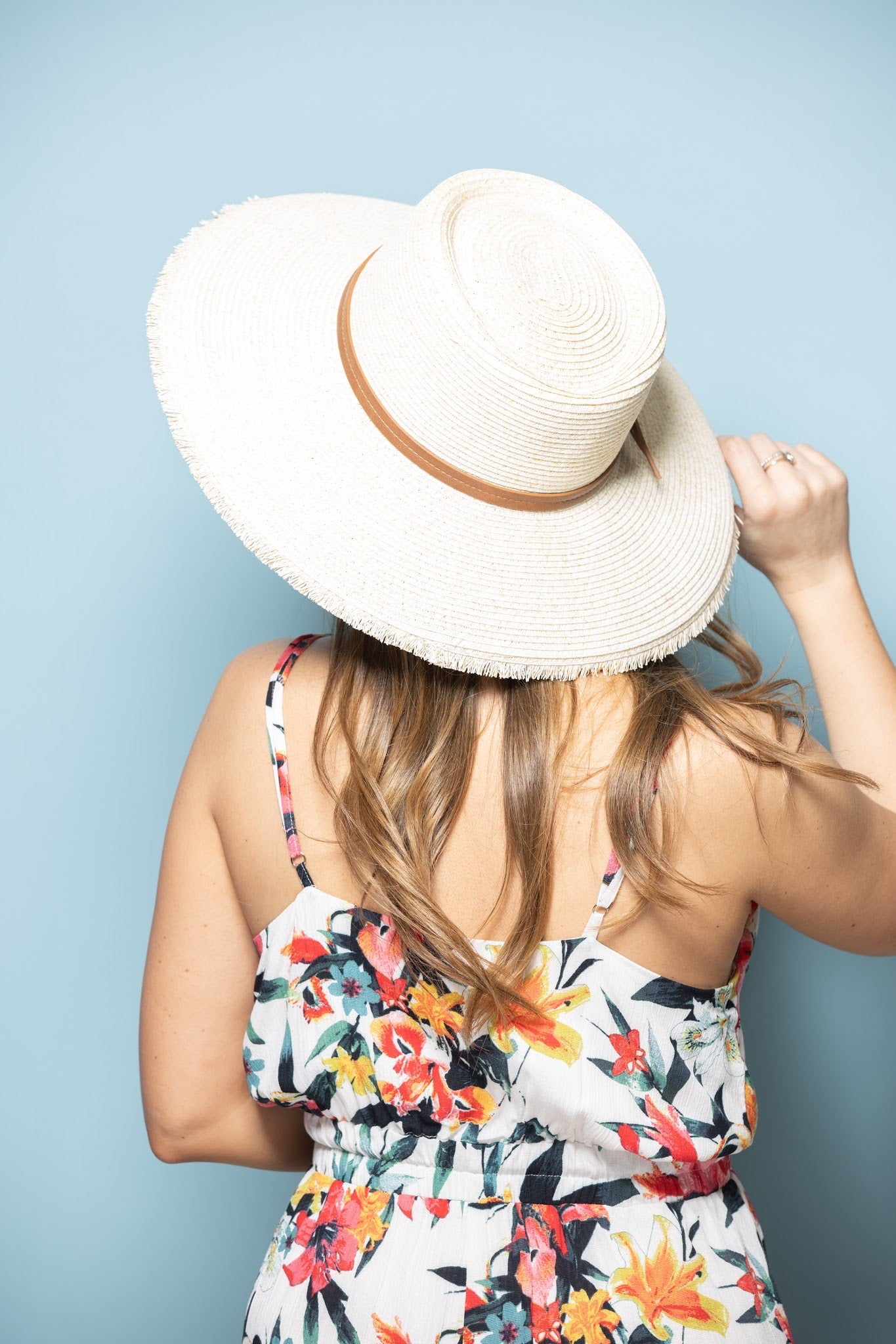 Frayed Brim Beige Straw Hat - impromptu boutique