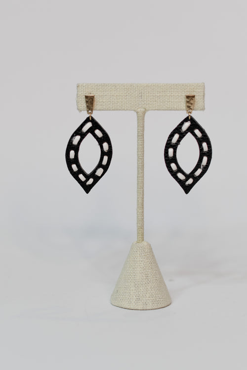 Up For Anything Leather Earrings - impromptu boutique