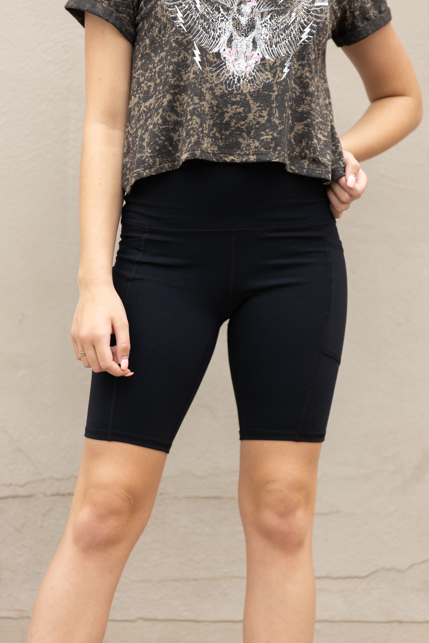 Move With Me Black Biker Shorts