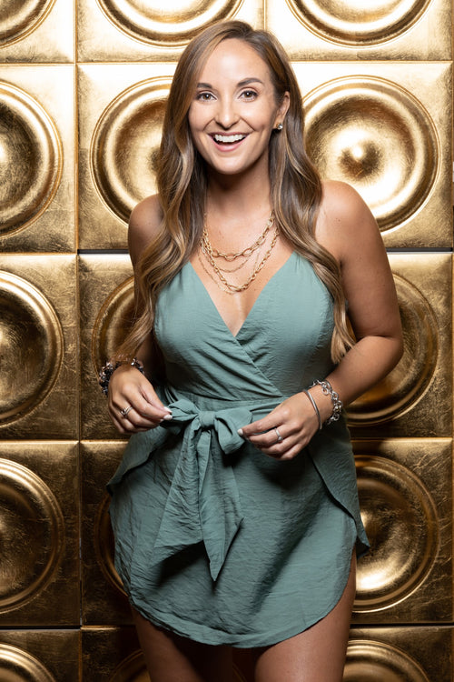Makin' Changes Sage Romper