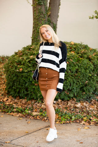 Change Of Heart PomPom Mini Skirt