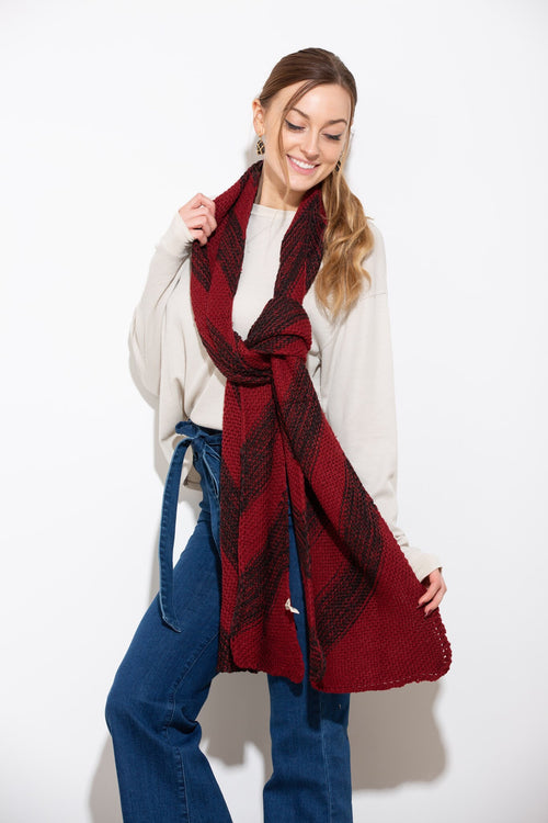 Cozy With You Red & Black Scarf - impromptu boutique
